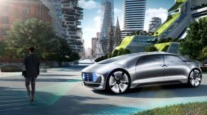 Ilustración del F 015 Luxury in Motion, el Mercedes autoconducido. Imagen de Mercedes-Benz.