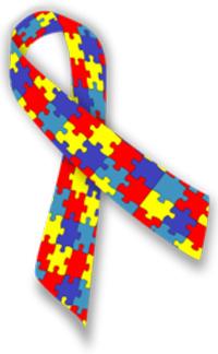 Lazo de la campaña de concienciación sobre el autismo y el asperger. Imagen de Wikipedia.