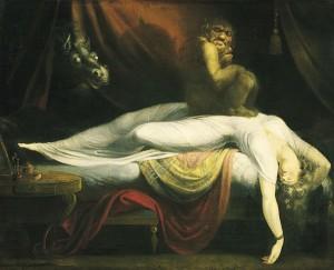 'La pesadilla' (1781), de John Henry Fuseli, representación de un íncubo. Imagen de Wikipedia.