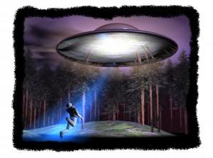 Reconstrucción de una abducción alienígena. Imagen de Travis Walton / Wikipedia.