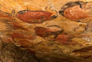 Vista parcial del techo policromado. Imagen del Museo de Altamira.