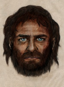 Reconstrucción del individuo de La Braña (León), un cazador-recolector alto, de piel morena y ojos azules. Imagen del CSIC.