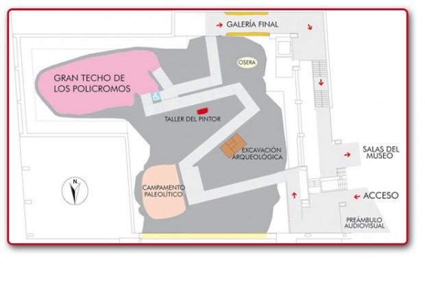 Plano de la Neocueva. Imagen del Museo de Altamira.