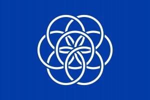 Bandera de la Tierra diseñada por Oskar Pernefeldt. Imagen de O. P.