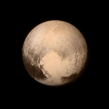 Imagen de Plutón obtenida por New Horizons el 13 de julio de 2015. Imagen de NASA/APL/SwRI.