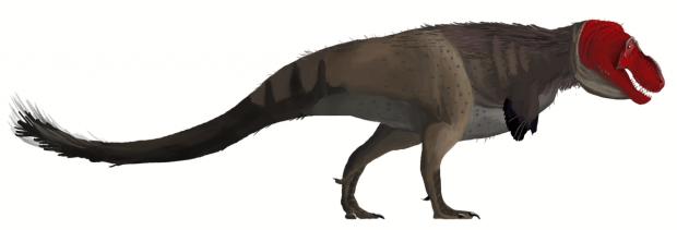 Recreación del tiranosaurio rex por Matt Martyniuk. Imagen de Wikipedia.