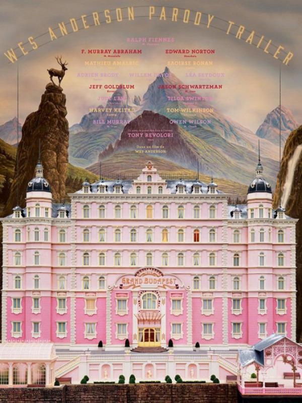 El gran hotel Budapest poster honesto