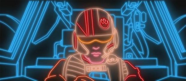 Star Wars VII en neon