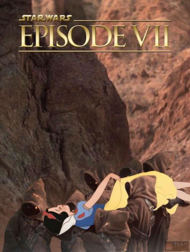 Nada más anunciarse que el 'Episodio VII' correría a cargo de Disney, la web teamcoco.com lanzó una serie de divertidos carteles al respecto. Este es uno de los mejores...