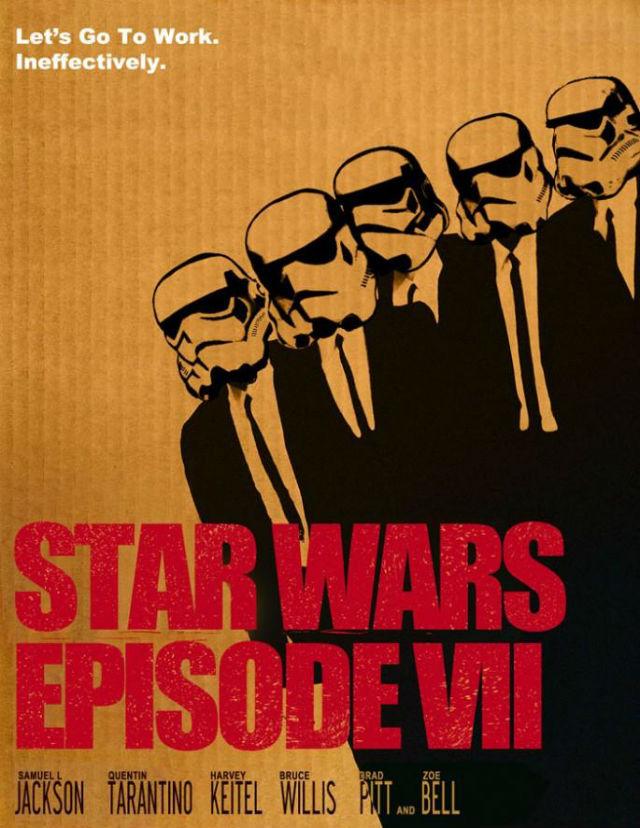 """Vamos con otra visión """"tarantinesca"""" de 'Star Wars'... Esta vez con los """"stormtroopers' del Imperio metidos en los trajes negros de 'Reservoir Dogs'."""