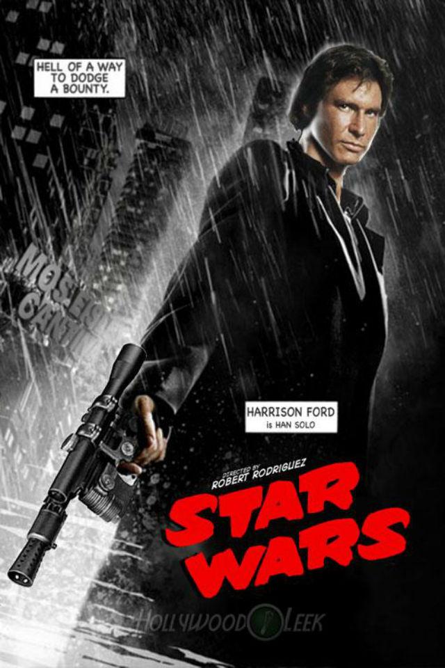 Le toca el turno a Han Solo, que toma el relevo de Bruce Willis en el póster de 'Sin City', de Frank Miller