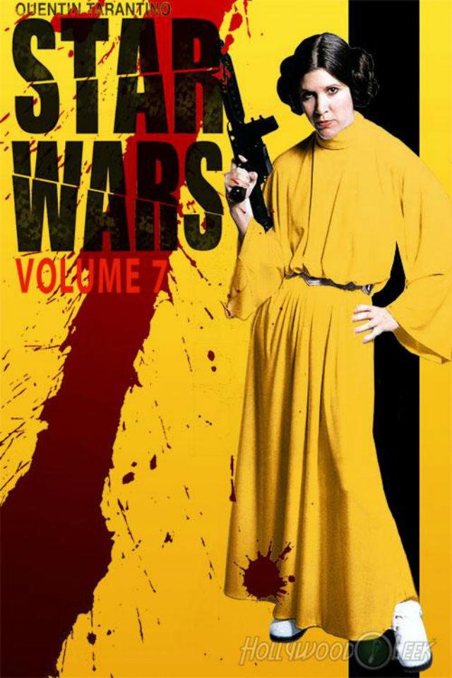 La Princesa Leia Organa vuelve con fuerza en este 'Episodio VII'... Con claras reminiscencias a 'Kill Bill'. ¡Qué grande habría sido esta nueva entrega de haberla dirigido Tarantino!