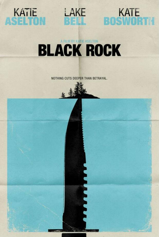 Una película sin demasiado interés... Pero con un bonito cartel, en el que se mezclan conceptos de, por ejemplo, clásicos como 'Psicosis' o 'Tiburón'.