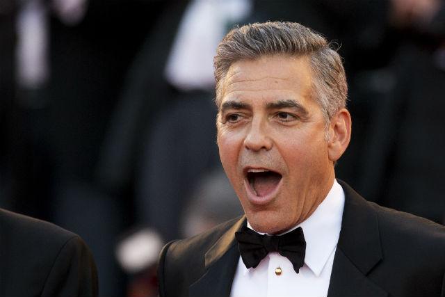 El actor George Clooney, en la presentación de 'Gravity' en Venecia (GTRES)