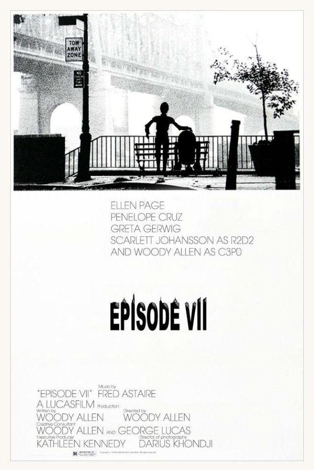 En el improbable caso de que Woody Allen hubiera sido el elegido para dirigir esta nueva entrega, quizá la historia hubiera girado en torno a una cómica historia de amor entre C3PO y R2D2... ¿Prometedor, no?
