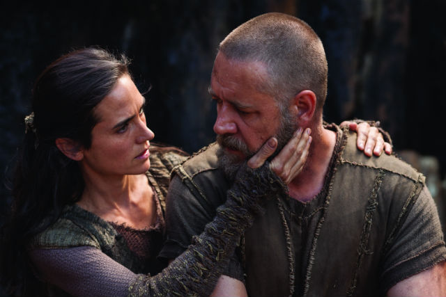 Jennifer Connelly y Russell Crowe en 'Noé' (PARAMOUNT)