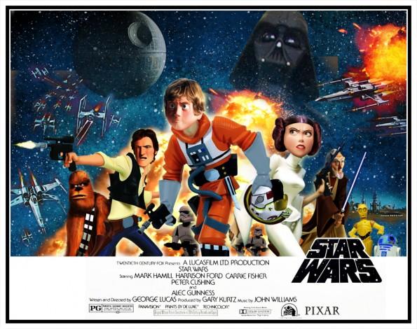 El universo 'Star Wars', al estilo Pixar (Phil Postma)