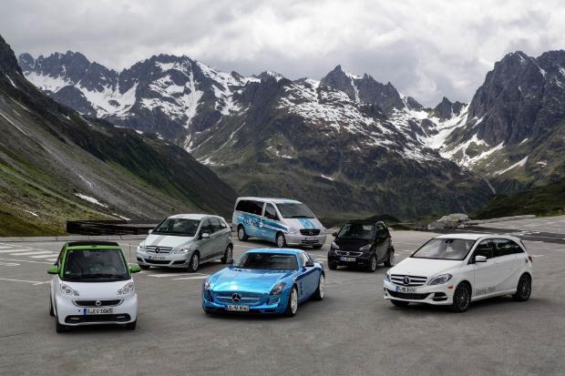 La gama e-drive de Mercedes-Benz.