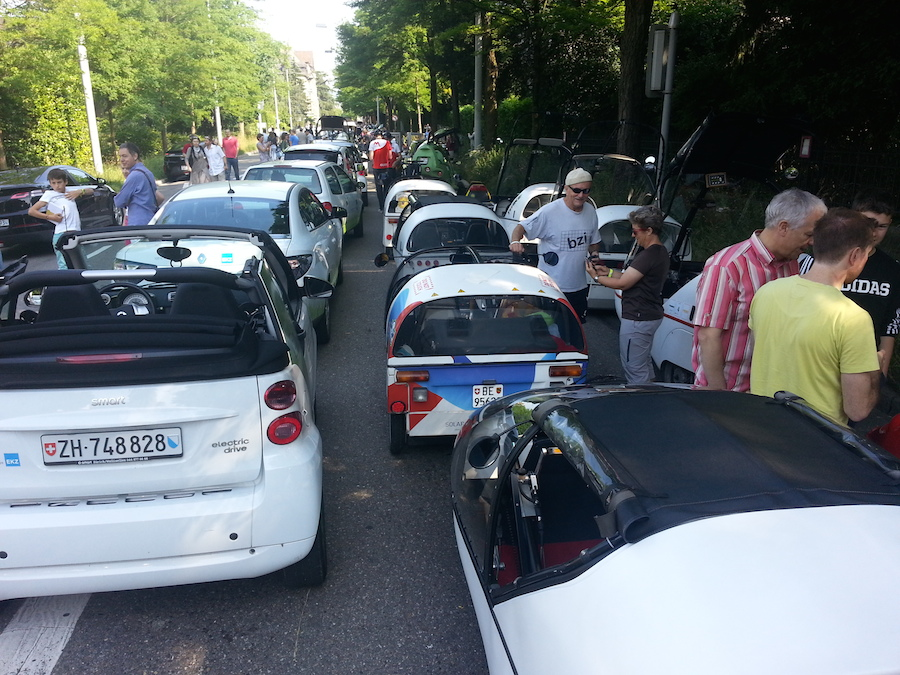 Zurich electric car concentration record