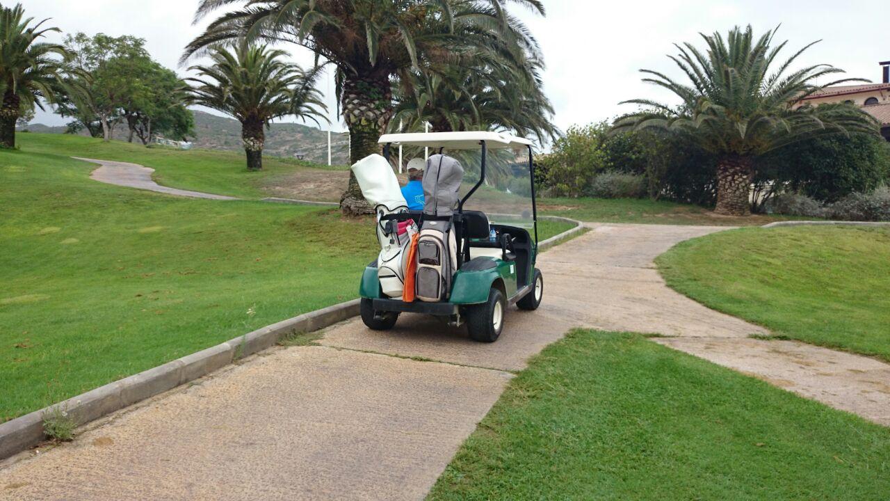 Cochecito eléctrico campo de golf3