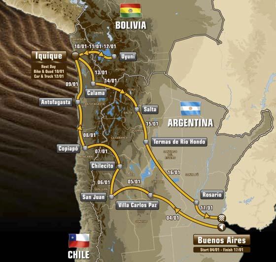 Dakar 2015 recorrido