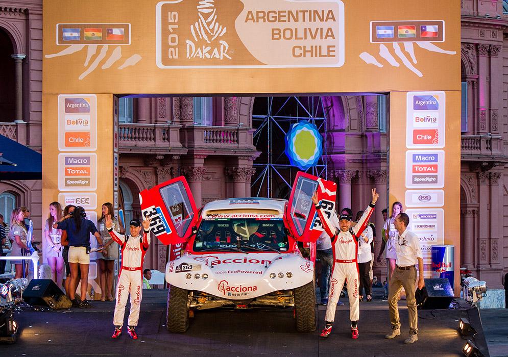 ACCIONA 100% ECOPowered 1er coche eléctrico del Dakar