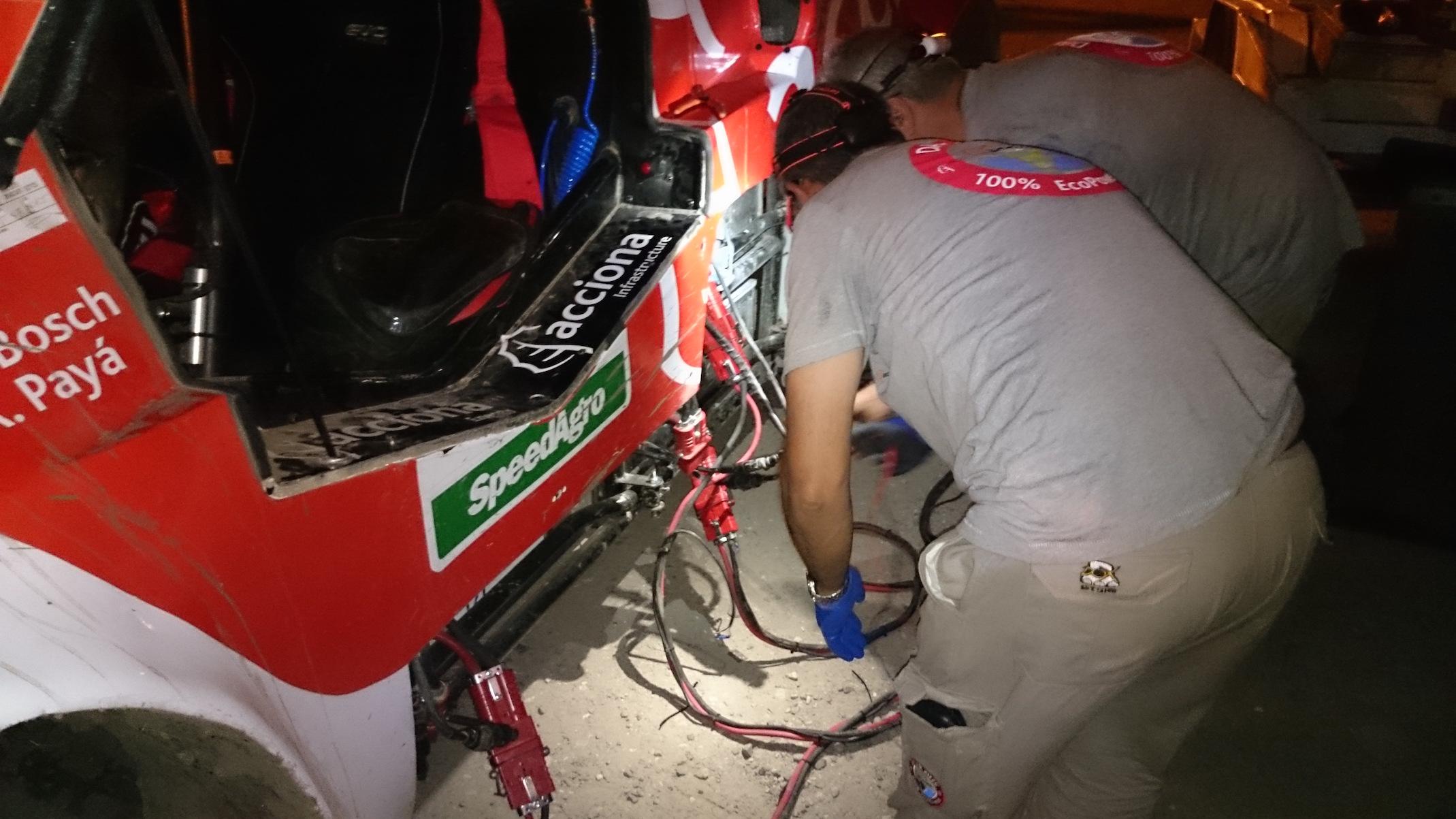Recarba de baterías. A.Payá electric Dakar