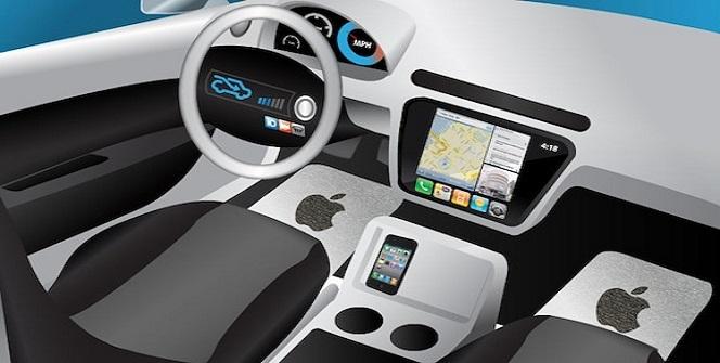 Recreación interior coche eléctrico Apple