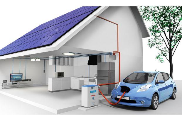 Sistema domestico coche eléctrico energía para hogar