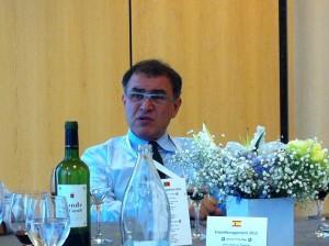 Comida con Roubini en el Palacio de Congresos (Madrid)