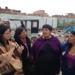 Mujeres del colectivo Fasol, en la barriada Kennedy de Bogotá.