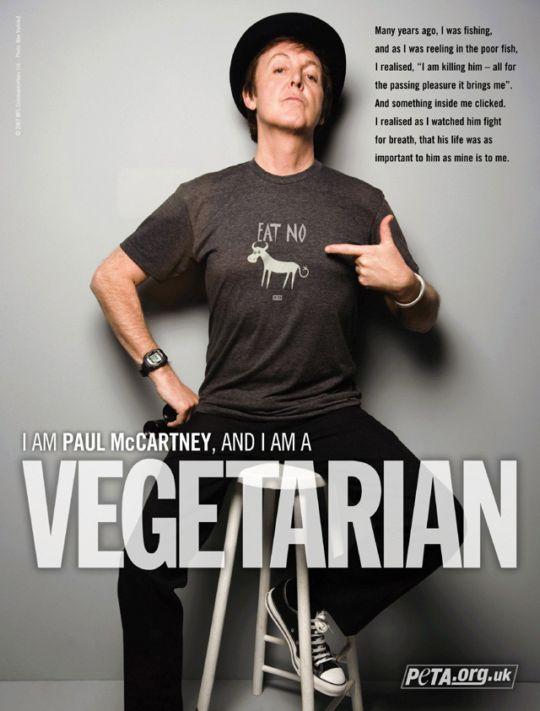 Resultado de imagen de paul mccartney vegetariano