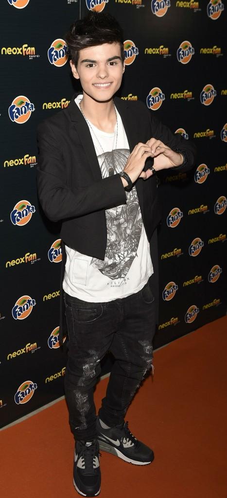 Abraham Mateo en la tercera edición de los NEOX Fan Awards (GTRES).