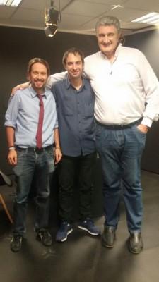 Pablo Iglesias con Fernando Romay