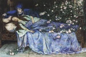 """""""La Bella Durmiente"""", por Henry Meynell Rheam"""