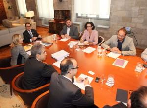 Cumbre proconsulta en el Palau de la Generalitat