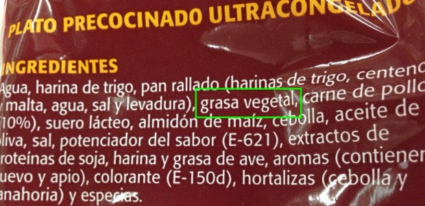 Grasa vegetal