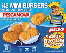 Burger merluza sabor bacon