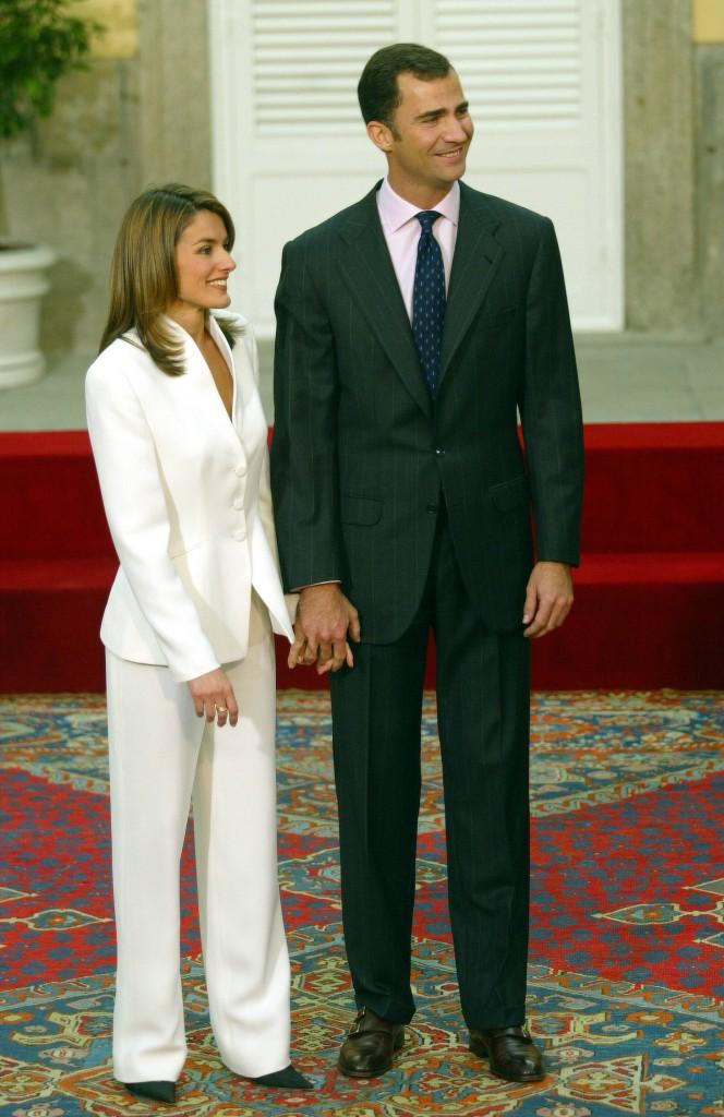Pedida de mano de los entonces Príncipes de Asturias en el año 2003 (GTRES)