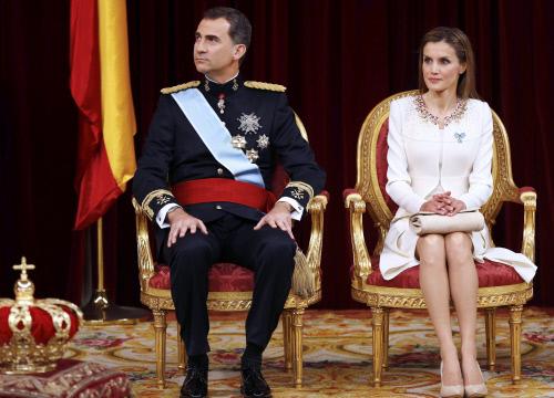 Letizia en la proclamación de Felipe VI (GTRES)