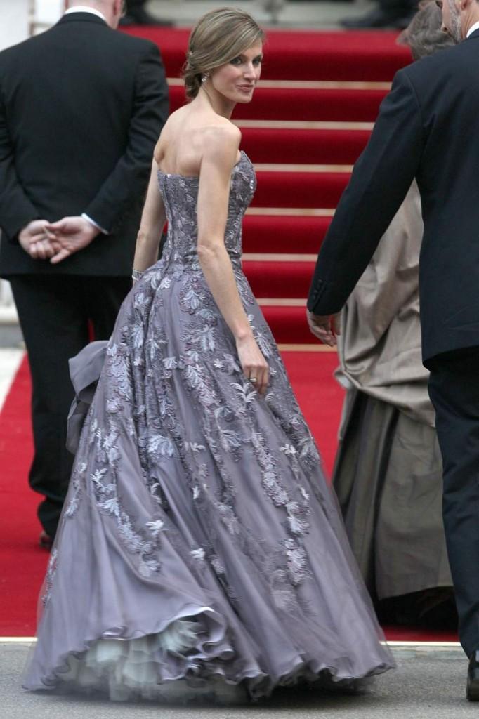 Letizia e la alfombra roja de Cannes