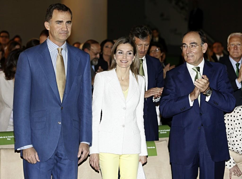 Los Reyes con el presidente de Iberdrola (EFE)