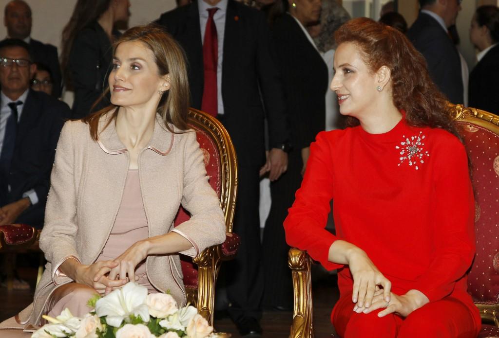 Letizia con la princesa Lalla Salma. (GTRES)