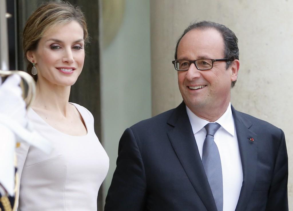Letizia y Hollande. (GTRES)