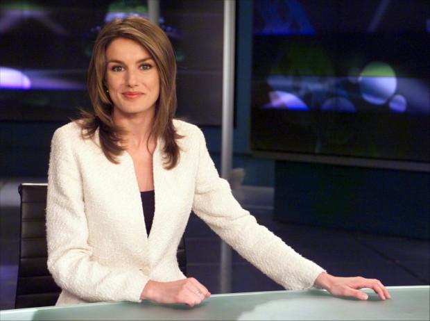 En su etapa de presentadora del Telediario. (GTRES)