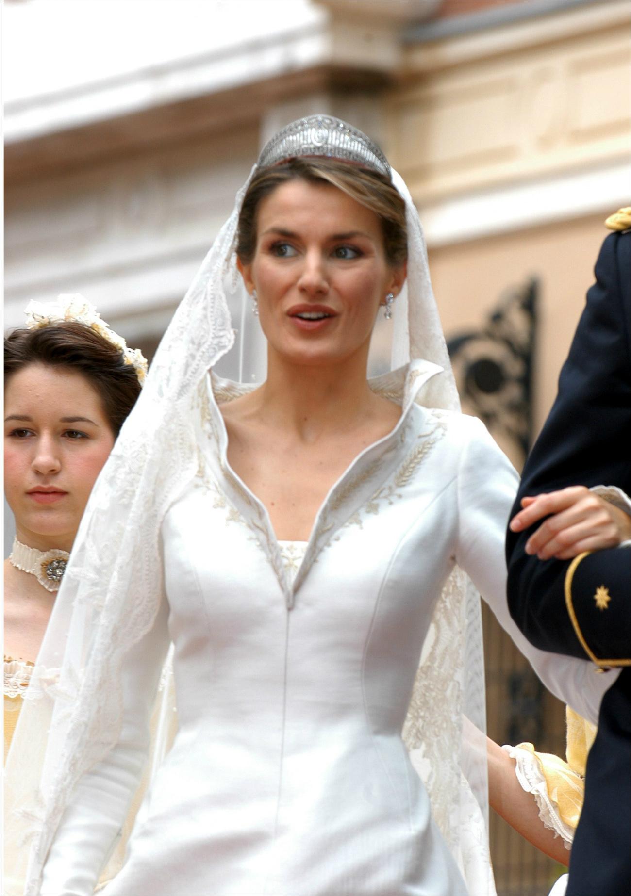 Letizia el día de su boda. (GTRES)