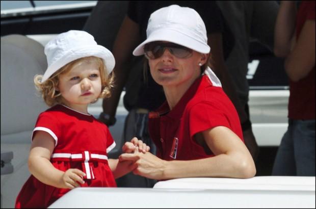 Letizia y su hija Leonor en julio de 2007 perfetamente conjuntadas