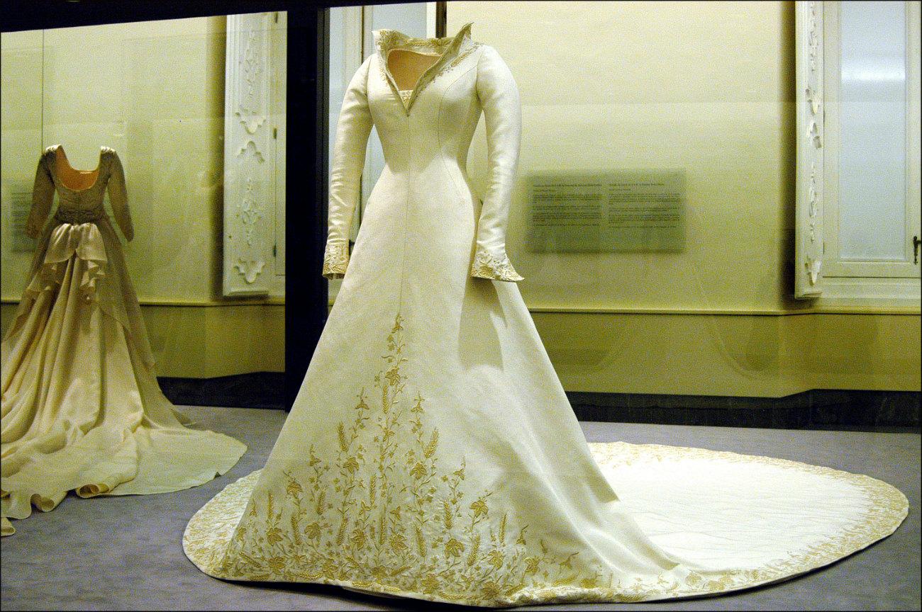 Vestido de novia de Letizia Ortiz. (GTRES)