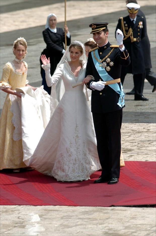 Los entonces príncipes de Asturias el día de su boda. (GTRES)