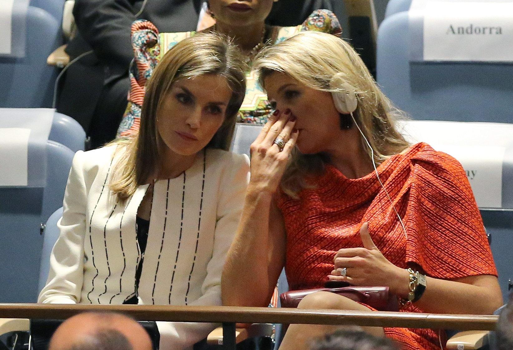 Máxima y Letizia en la ONU (MARK GARTEN /EFE)